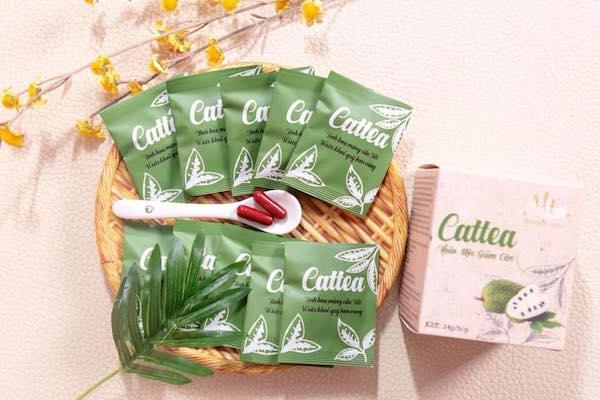 Trà giảm cân Cattea có tốt không? Review webtretho