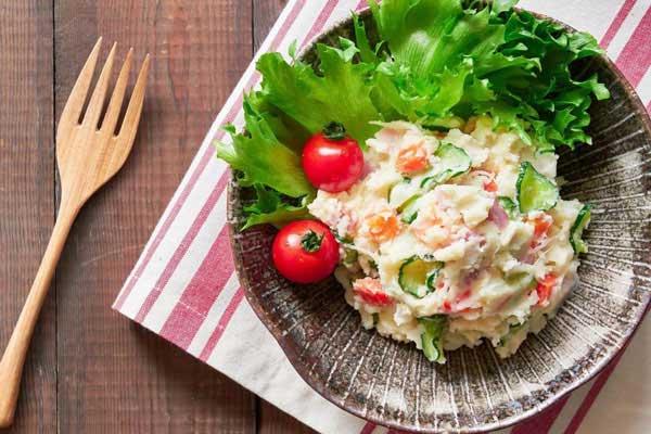 cách làm salad khoai tây giảm cân, salad khoai tây giảm cân, các bước làm salad khoai tây giảm cân, Salad khoai tây