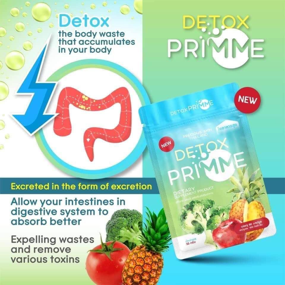 Review viên uống khử mỡ Thái Lan Detox Primme có tốt không? Phân biệt Detox Prime Thái Lan thật giả
