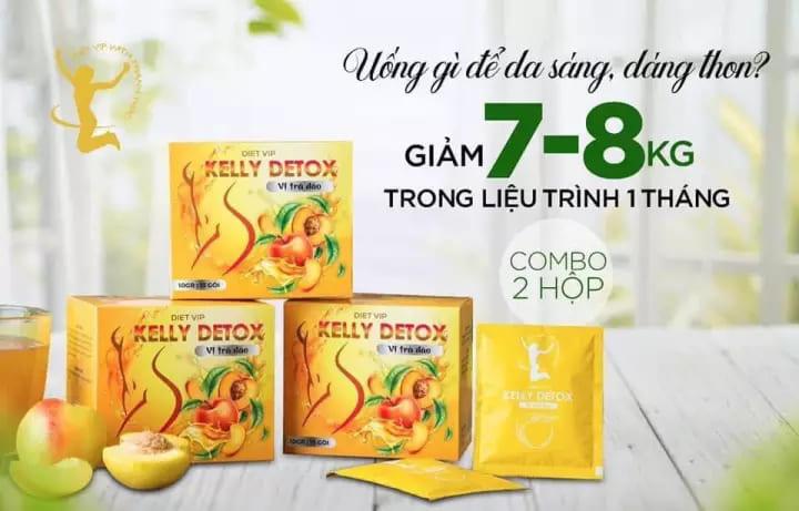 Review trà đào giảm cân Kelly Detox có tốt không? Kelly Detox giảm cân có tác dụng phụ không?